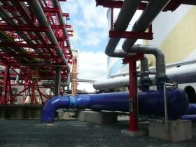 Chemnitz CHP plant coolant lines