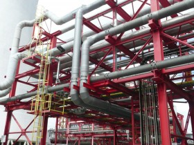 GRP piping at the CHP plant in Chemnitz