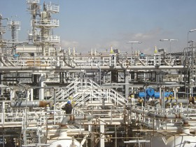 Natural gas processing facility in the Middle East