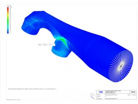 FEM of piping section with deformation and stress analysis using ROHR2fesu