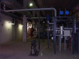 Chemnitz CHP plant compressor piping